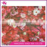 China digital printing crinkle georgette silk yoryu chiffon fabric crinkle chiffon fabric with plum blossom