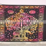 Indian Printed Wholesale Wall Hanging Elephant Tapestry
