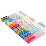 hot sale high quality gel ink pen stationery set with pvc packing and assorted color including pastel/glitter/metallic