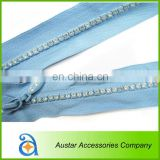 Clear Crystal Diamante Rhinestone zippers Wholesale
