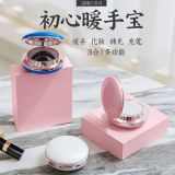 New creative initial heart hand warmers Makeup mirror mini hand warmers Mobile power charging hand warmers