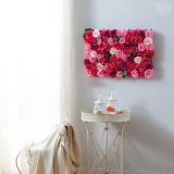 Guangzhou factory artificial rose flower wall for home decoration