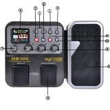 MG-100 Professional Multi-Effects Pedal Processor for Guitar bass violin 40s Record 55 Effect Mode 10 Sound Di Box Electric Guitar Bass