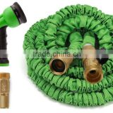 Expandable Garden Hose Strongest Expandable Hose With All Brass Connectors,8 Pattern Spray Nozzle And High Pressure - Resistance