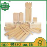 pine wood kubb game set for garden game