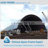Low cost prefab steel space truss structure building