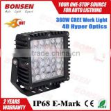 Truck accessories square 360W super bright led working light, led work lamp for all universal cars