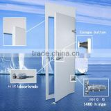 PU panel cold room hinged door with PVC frame