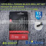 13PCS HSS twist drill bit set DIN 338, Hole Boring Bits, Drilling tool kit