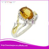 Fashion wedding ring Authentic gold diamond full finger ring