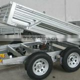 Hot dipped galvanized hydraulic tipping box trailer/ tipper trailer/ farm trailer