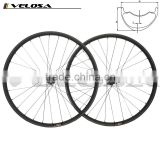 2016 new style offset MTB carbon clincher wheelset 29er hookless AM/DH 40mm wide racing Asymmetry wheels