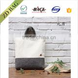 new fashion style high quality art jute tote bag wiith button