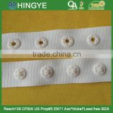 Plastic Snap Fastener Button Tape in Natural Color -- S1436