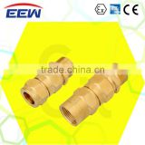 Explosion proof cable clamped seal connector tube gland compression sealing connector