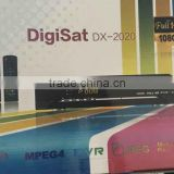 DigiSat DX-2020 Digital FTA Satellite TV Receiver 1080p HD DVB-S2 MPEG5 FTA Decoder 2 remote controls tv3 28.2E satellite
