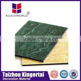 Alucoworld marble coating any size aluminum plastic composite panel board wall cladding