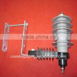 11 KV metal zinc oxide composite gapless surge arrester with metal cable mounting fittings
