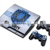New Wholesale Cool Vinyl Skin Sticker for PS3 Slim Controller for Playstation3 Console Wrap Cover                                                                         Quality Choice