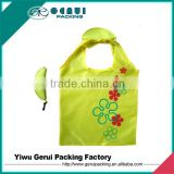 banana shape 190T/210 D polyester foldable bag