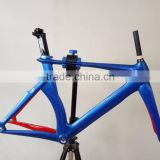 MeyerGlobal Blue British flag carbon fixed gear frame single speed oem carbon fiber track bike frame T700 + T800 Toray