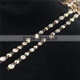 Stick on Strass Chain Gold Chain Rhinestone Roll for Bags/ Shoes Use