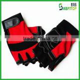 China competive price red fingerless sport glove