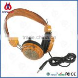 Classic stereo headphone wooden headset