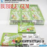 mix fruit flavor bubble chewing gum with jam