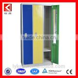 three doors beige lockable steel clothes closet for hostel room storage locker clothing steel locker/metal wardrobe
