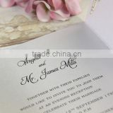 Laser Cut White Gatefold Luxury Lace Evening Wedding Invitation With Complimentary Envelopes and Personalisation