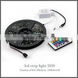 5M 12V 150 SMD 5050 Flexible LED Strip RGB Waterproof Cuttable LED Strips 5m/Roll Light With Remote Decoration