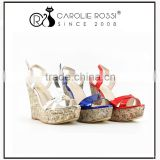 boat style shoes design women wooden heel platform wood sandals