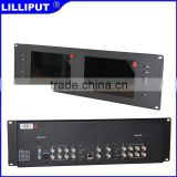 "7"" rack mount lcd display with Dual 7"" LED Backlit Panel Dual 3G-SDI Input"