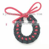 Custom DIY Paracord Christmas Tree Decoration Supplies Paracord Weave Wreath Christmas Ornament