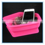camping used silicone soft foldable felt storage box