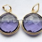 925 Silver Jewelry Charm jewelry collection Hot Sale Sterling Silver Amethyst Quartz Gemstone Pendant