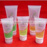 good quality cosmetic PE plastic tube with flip lid cap hot stamping