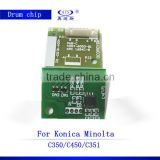 For using in Konica minolta C350 C450 C351 drum chip copier spare parts