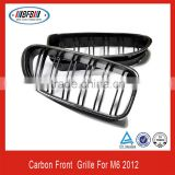 high quality carbon fiber FOR BMW E63 M6 series 2012 double bars front bumper grille
