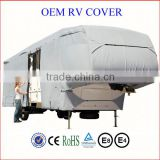 the fifth wheel RV cover, water-repellent breathable UV protection caravan cover, tailored travel trailer cover
