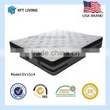 new model bed mattress euro top spring removable pillow top mattress for 2 person