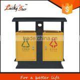 small size color coded plastic garbage dustbin with wheels