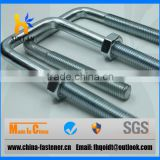 Rubber Coated Stainless Steel U Bolts Square for Truck Chassis, U Bolt Pipe Clamp U-Bolt, Flat U Bolt with Washer and Nut