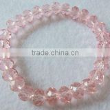 Pink Crystal glass Bracelet with crystal beads jewelry clothes(R-1341