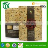 Business industrial customized printed logo stand up brown kraft paper food bag pouch with zipper