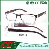 2016 custom logo fashion reading glasses, decorate reading glases, spring hinge reading eyeglasses