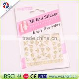 Hot 3d Designs Beauty Gold/Silver Stamping Decals Nail Art Tips Nail Stickers Glitter Decorations
