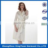 Factory wholesale satin plain bath robe satin robe silk robe