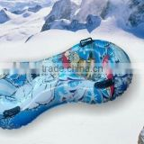 Durable heavy duty inflatable snow tube with nylon cover and rubber bottom